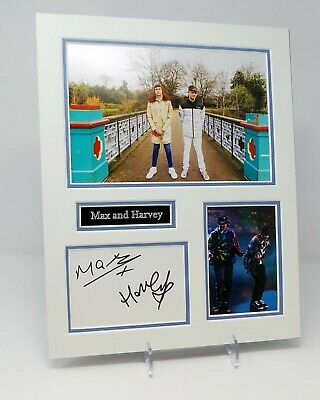 Max & Harvey Signed Mounted Photo Display AFTAL COA Celebrity X Factor Singers