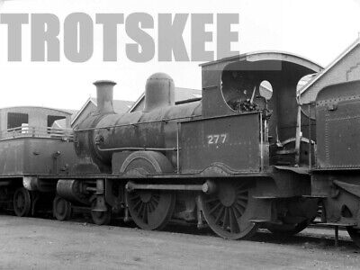 Larger Negative LSWR London South Western Railway Steam Loco 277 Eastleigh 1921
