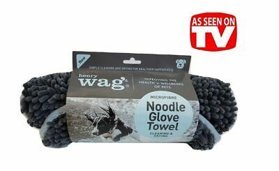 Henry Wag Noodle Glove Towel, Drying Glove for Dogs and Horses, Dog Or Equine
