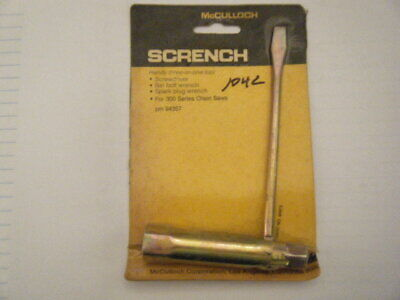 NEW McCULLOCH TEE BAR WRENCH 16MM 11MM 1611M OEM FREE SHIPPING
