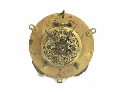 Antique Ansonia Round Plate Mechanical Clock Movement for Parts | ref 22930