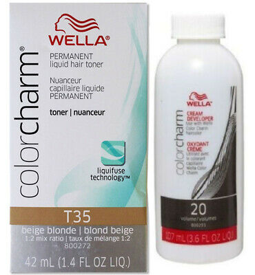 Wella-T35 Hair Colour Toner - Lightest Ash Blonde with developer 20vol