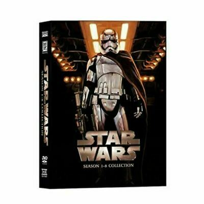 Star Wars 14 Disc Box Set DVD Complete Season 1-8 New Condition Special Features
