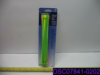 """Qty = 990 (66 Packs of 15): Helping Hand Nylon Cable Ties Multi Color 8"""" FQ50214"""