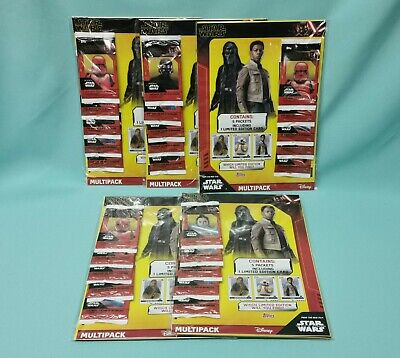Topps Star Wars The Rise of Skywalkers  5 x Multipack inkl. 5 x Limited Edition