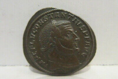 Ancient Roman Empire Constantius I 305-06 AD AE Follis Bronze Coin SB14183