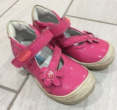 Designer Girls Rondinella Pink Leather Shoes - Italian - Size Infant 7 - RRP £70