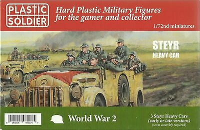 Plastic Soldier 1/72 Steyr 1500A Heavy Utility Car (3 Fast Assembly Vehicles)