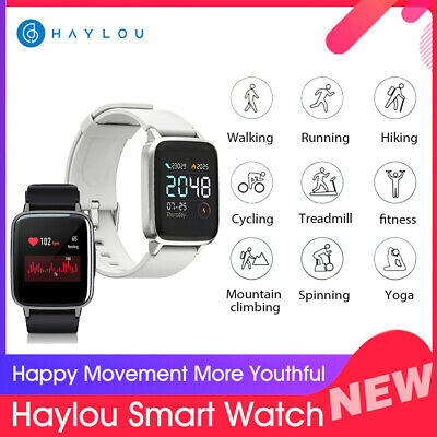 Global Xiaomi Haylou LS01 Smart Watch Phone Mate Heart Rate FitnessTracker S6Q8
