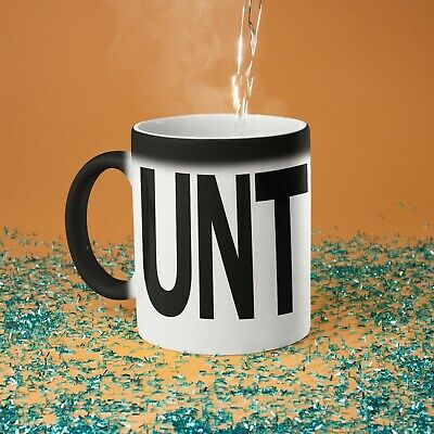 Adult Humour Funny Joke Rude Gift Cup Ceramic OCK COCK UNT CUNT With Black Handle Ceramic Coffee Tea Mug Cup Naughty Cheeky Novelty gift idea