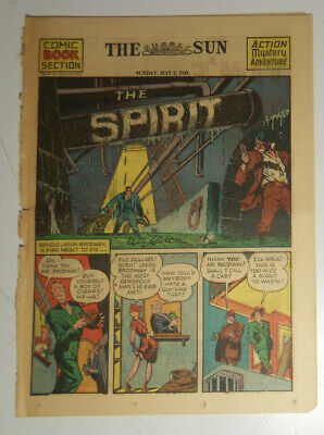 May 2, 1943 THE SPIRIT Section by Will Eisner SUNDAY COMICS - THE SUN Baltimore
