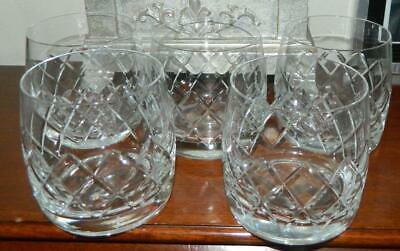 VINTAGE set of 5 1950s-60s Tudor Whisky Glasses