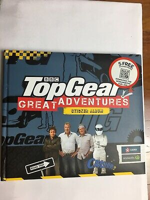BBC Top Gear Great Adventures Sticker Album Full With Stickers