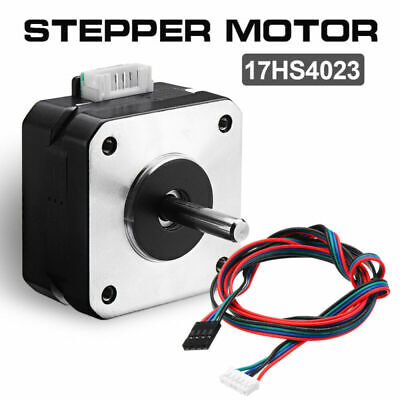 2x 12V Nema 17 Stepper Motor 17HS4023 2 Phase With Cable For 3D Printer Extruder
