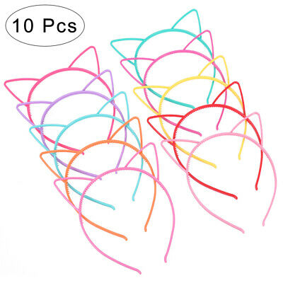 10X Kids Cat Ear Headband Children Plastic Party Headwear Girls Hair Fancy Dress