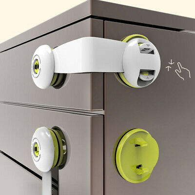Cabinet Drawer Fridge 360 Rotation Adhesive Children Baby Safety Lock Fill