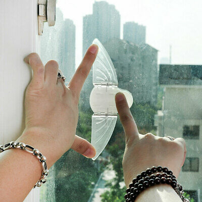 Adhesive Children Baby Safety Lock For Sliding Window Push-Pull Door Closet Fil