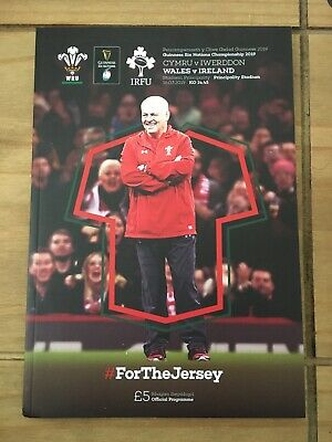 Rugby Programmes 2019 Grand Slam Decider Wales v Ireland Mint Condition