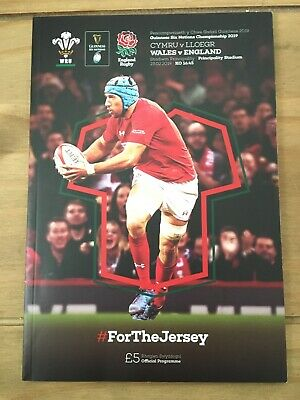 wales rugby union programmes Wales v England 2019 Six Nations Mint Condition