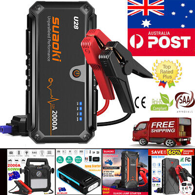 Suaoki Car Jump Starter Booster Emergency Battery Charger USB Power Bank Lights