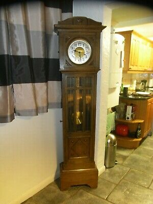 "Beautiful Edwardian ""Country Cottage"" 6 Foot Tall Grandfather Clock Westminster"