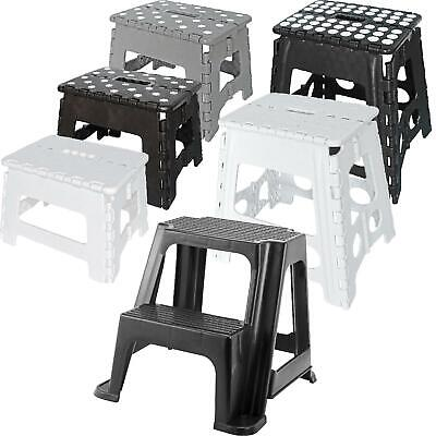 Small/Large Plastic Folding Step Stool Foldable Multi Purpose Dual Step Stool