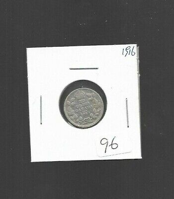 pk47668: Canada Coin - King George V 1916  Silver 10 cent Dime