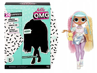 LOL Surprise OMG Fashion Doll Candylicious Series 2 Puppe NEU PUPPE MIT HAAREN