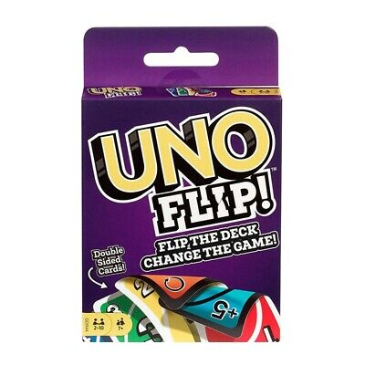 Uno Flip Card Game Mattel Orinal Classi Party Playing Double Sided