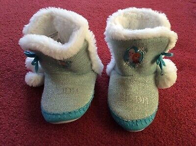 Disney Frozen slippers indoor ankle boots UK size 13-1  name Eilidh