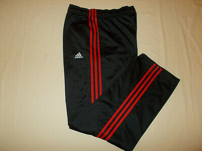 Adidas Black With Red Stripes Athletic Pants Mens Large Excellent Conditon