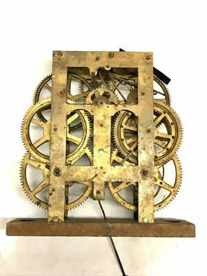 Antique Unmarked Weight Driven Mechanical Clock Movement for Parts | 22945