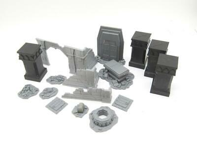(wEDN) Balins Tomb Mines Of Moria Scenery Middle-Earth Hobbit Lord Of The Rings