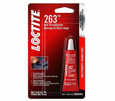 Loctite 2203451 (263) Threadlocker Surface Insensitive Red, 6 ml Tube