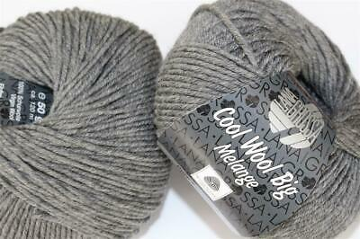 Wolle Kreativ! Lana Grossa - Cool Wool Big - Fb. 617 dunkelgrau meliert 500 g