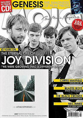 Mojo Magazine + Cd March 2020 (Joy Division, Curtis Mayfield, Genesis, J.prine)