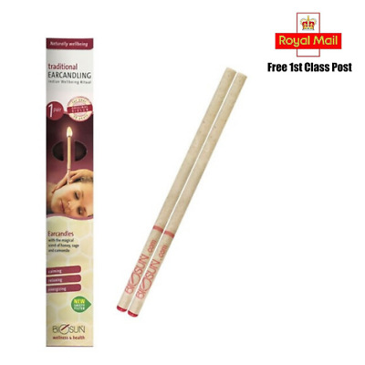 Biosun Ear Candles with the magical scent of honey and sage- 1 pair (Genuine)