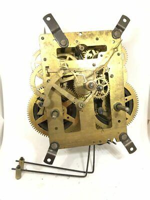 Antique Brass Mechanical Dual-Chime Clock Movement for Parts | 22981