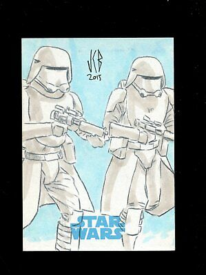 Star Wars JTTFA Journey to the Force Awakens Sketch Card SNOWTROOPER BENITEZ 1/1
