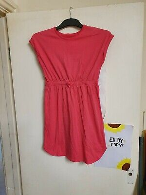 Girls pink short Sleeved Dress By George Age 10-11 yrs