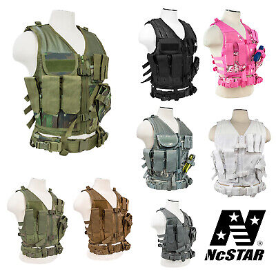 NcSTAR VISM Tactical Cross Draw Military Hunting MOLLE PALS Vest S-XXL CTV2916