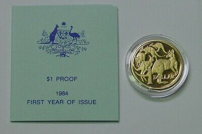 1984 $1 Proof Mob of Roos dollar with certificate.