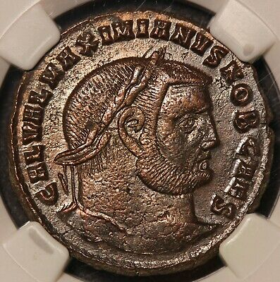305-311 AD Roman Empire Galerius BI Nummus Ancient Coin - NGC Ch VF