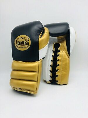 High Quality Leather Leaders USA boxing Training gloves 16oz Kickboxing MMA
