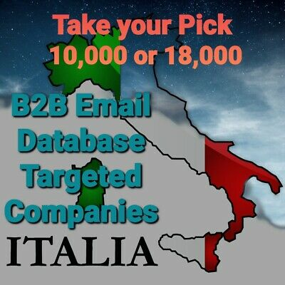 NEW Italy Business Email Database - Verified & Up-to-Date 16/01/2020