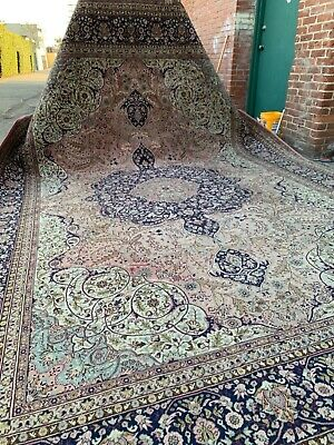 Auth: Antique Turkish Rug    Majestic Isparta Isle  Mauve Wool Beauty 10x15 NR
