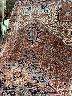Auth: Antique Herizz    Karaja Village Serapee    Organic Wool Beauty   8x11  NR