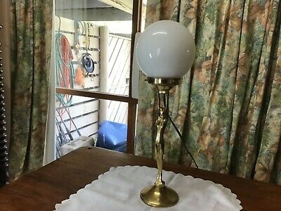Art Deco Diana Lady Lamp Brass