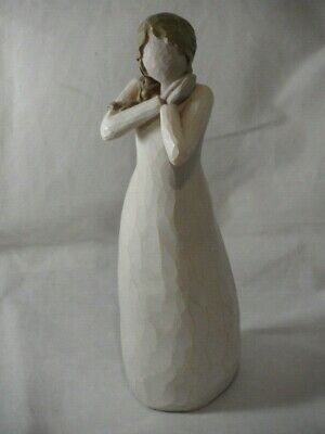 WILLOW TREE JOY ORNAMENT FIGURE SINGLE LADY CLASPIN HANDS BY SUSAN LORDI 23.5cms