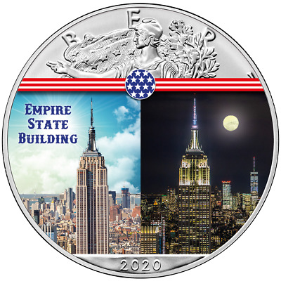 USA 1 Dollar 2020 - Silver Eagle - Empire State Building - 1 Oz Silber ST